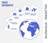 colourful travel infographic... | Shutterstock .eps vector #436267765