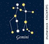 constellation gemini zodiac... | Shutterstock .eps vector #436269391
