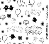 seamless pattern   bizarre... | Shutterstock .eps vector #436270681