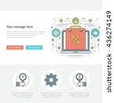 flat line business concept web... | Shutterstock .eps vector #436274149