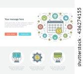 flat line business concept web... | Shutterstock .eps vector #436274155