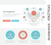 flat line business concept... | Shutterstock .eps vector #436274161