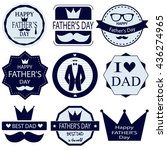 fathers day set. vector... | Shutterstock .eps vector #436274965