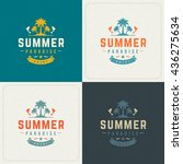 summer holidays retro... | Shutterstock .eps vector #436275634