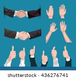 collection of vector hands... | Shutterstock .eps vector #436276741