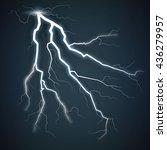 set of lightnings. thunder...   Shutterstock .eps vector #436279957