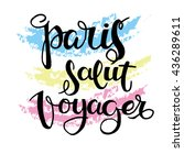 collection french words of hand ... | Shutterstock .eps vector #436289611