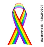 rainbow ribbon   3d rendering | Shutterstock . vector #436290904