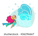 breath of fresh air   redhead...   Shutterstock .eps vector #436296667