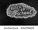 back to school background with...   Shutterstock . vector #436298605