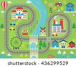 lovely city landscape train... | Shutterstock .eps vector #436299529