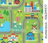 lovely city landscape train... | Shutterstock .eps vector #436299577
