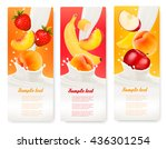 three labels with different... | Shutterstock .eps vector #436301254