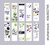 set of olive oil labels. hand... | Shutterstock .eps vector #436302745