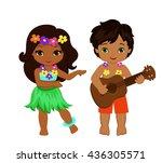 illustration of boy playing... | Shutterstock . vector #436305571