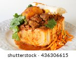 "closeup of lamb ""bunny chow""  ... 