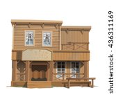 tavern of the wild west... | Shutterstock .eps vector #436311169