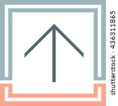 arrow up sign line vector icon.