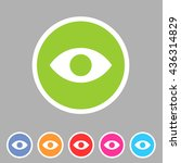 eye  watch  visitor icon flat... | Shutterstock .eps vector #436314829