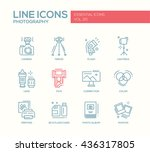 set of modern vector simple... | Shutterstock .eps vector #436317805