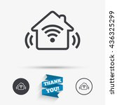 smart home sign icon. smart...   Shutterstock .eps vector #436325299