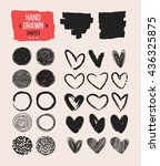 set of hand drawn shapes.... | Shutterstock .eps vector #436325875