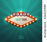 retro light sign. vintage style ... | Shutterstock .eps vector #436325989
