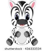 cartoon zebra | Shutterstock . vector #436333534