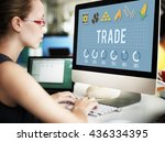 trade business commerce deal... | Shutterstock . vector #436334395