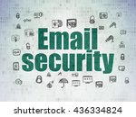 security concept  painted green ... | Shutterstock . vector #436334824