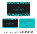 turquoise loyalty card design... | Shutterstock .eps vector #436338631