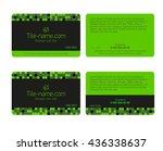 green loyalty card design... | Shutterstock .eps vector #436338637