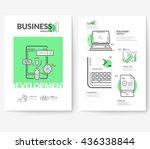 business brochure flyer design...   Shutterstock .eps vector #436338844