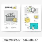 business brochure flyer design... | Shutterstock .eps vector #436338847