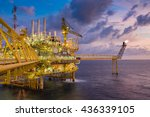 oil and gas production platform ... | Shutterstock . vector #436339105