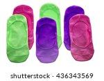 colorful socks on the white | Shutterstock . vector #436343569