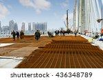 construction worker on... | Shutterstock . vector #436348789