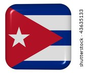 button in colors of cuba | Shutterstock . vector #43635133