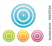 set of 4 colorful clocks signs | Shutterstock .eps vector #43635226