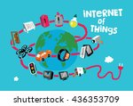 internet of things concept ... | Shutterstock .eps vector #436353709