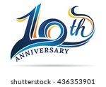 anniversary emblems 10 in... | Shutterstock .eps vector #436353901