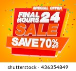 final 24 hours sale save 70  ... | Shutterstock . vector #436354849