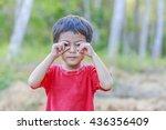 portrait of happy cute asian... | Shutterstock . vector #436356409