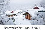 wonhyosa  a buddhist temple ... | Shutterstock . vector #436357021