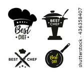 best chef set of design icons... | Shutterstock .eps vector #436358407