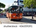 key west  fl june 12  a trolley ... | Shutterstock . vector #436359391