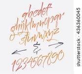 alphabet letters  lowercase ... | Shutterstock .eps vector #436360045