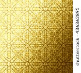 gold oriental folk pattern ... | Shutterstock . vector #436362895