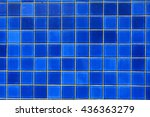 Geometric Blue Tile Pattern...