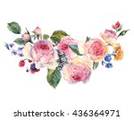 classical vintage floral... | Shutterstock . vector #436364971